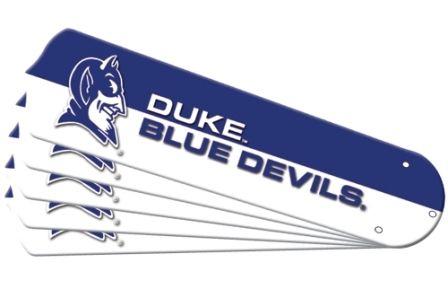 """New Ncaa Duke Blue Devils 42"""" Ceiling Fan Blade Set"""