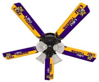 """New Ncaa Lsu Tigers 52"""" Ceiling Fan"""