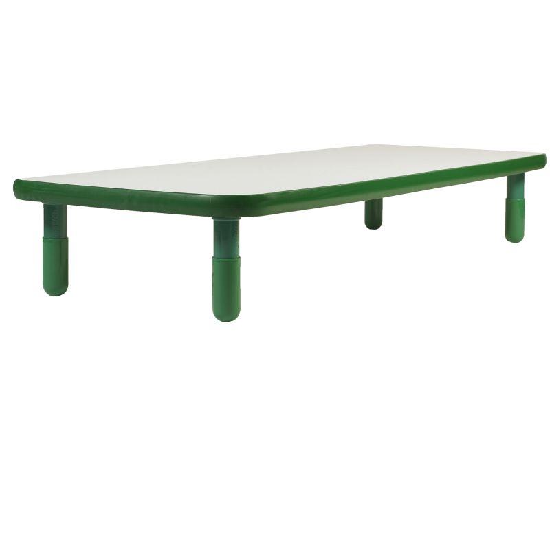 Baseline® 72″ X 30″ Rectangular Table – Shamrock Green With 12″ Legs