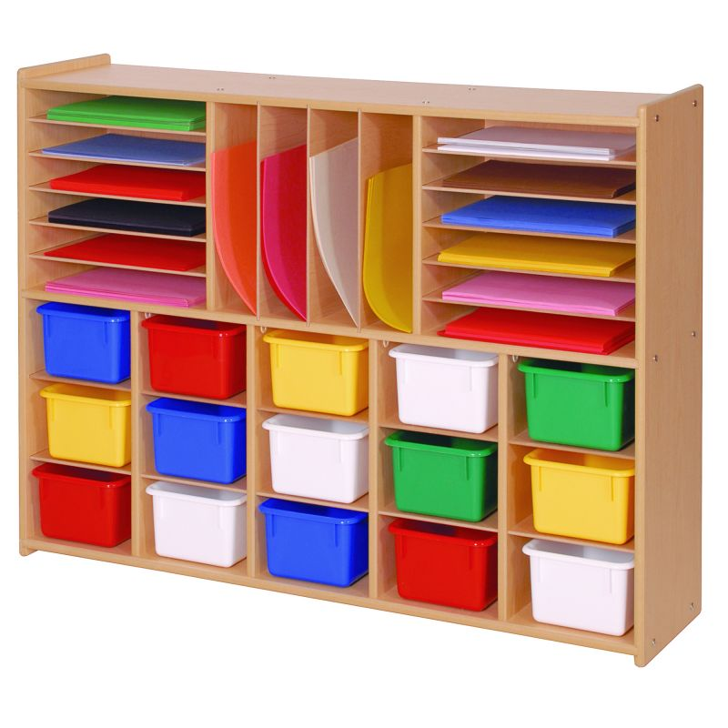 Value Line™ Multi-Section Storage With Multi-Colored Trays