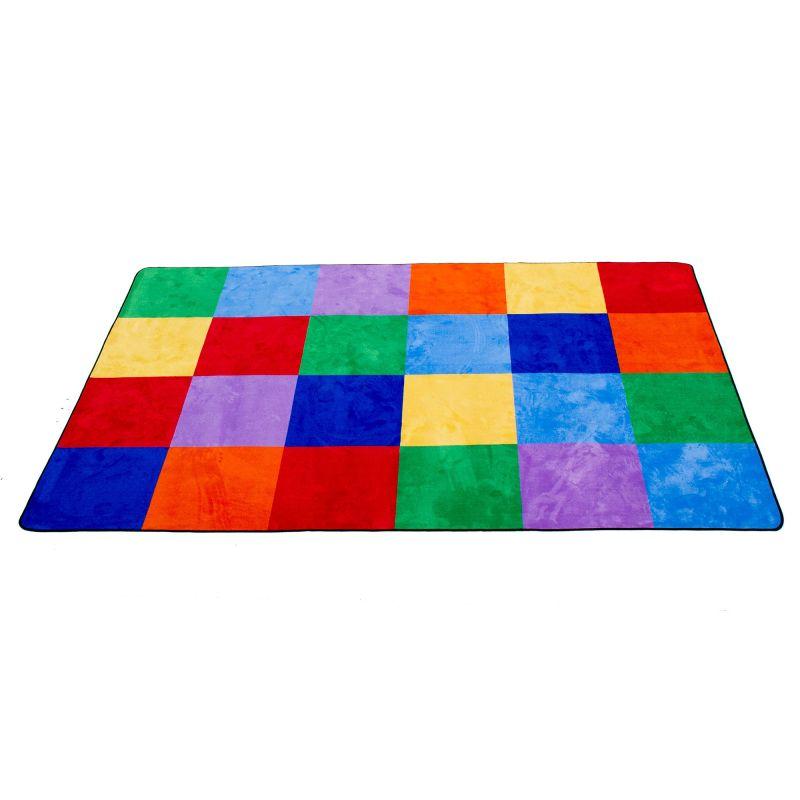 Colorful Grid Educational Rug – Rectangle Large