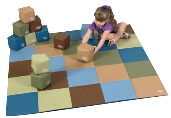 Patchwork Mat & 12 Piece Block Set – Woodland