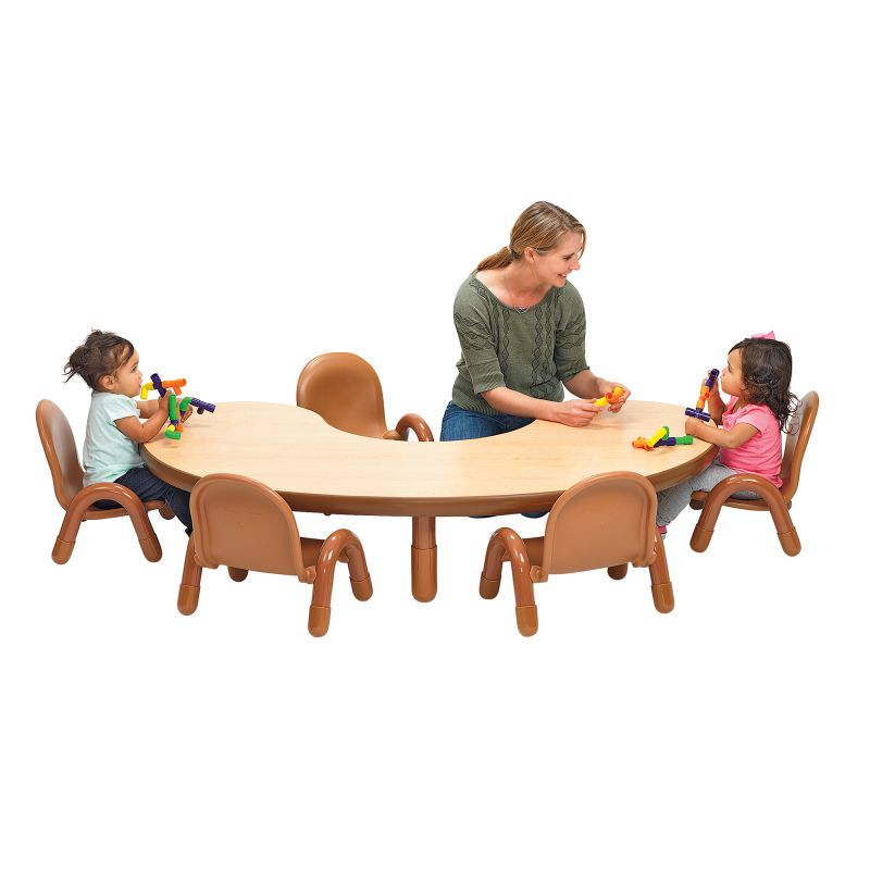 Baseline® Toddler Kidney Table & Chair Set – Natural Wood