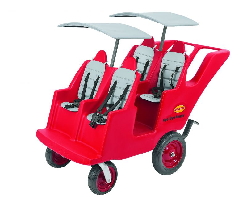 """4 Passenger Never Flat """"fat Tire"""" Red/grey Bye Bye Buggy®"""