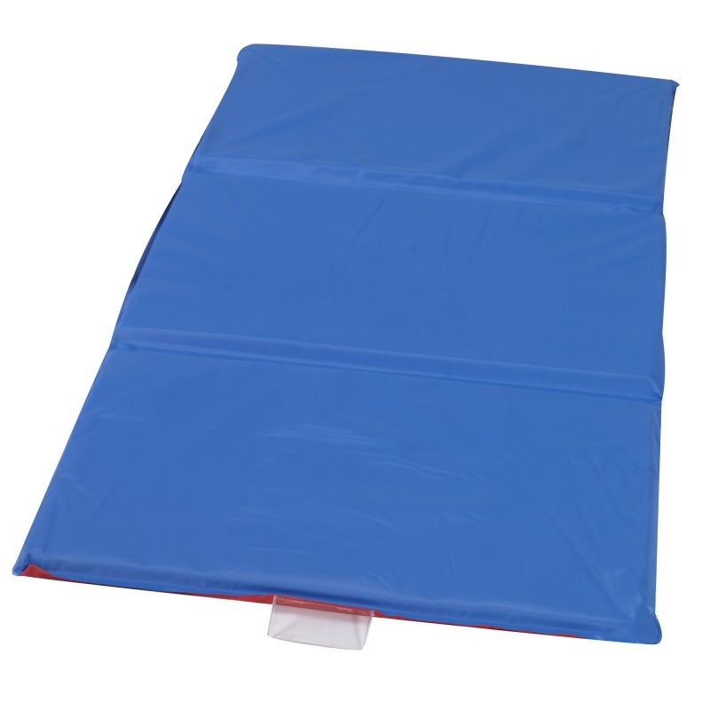 Angels Rest™ Nap Mat 1″ – Red/Blue 3-Section Folding Mat