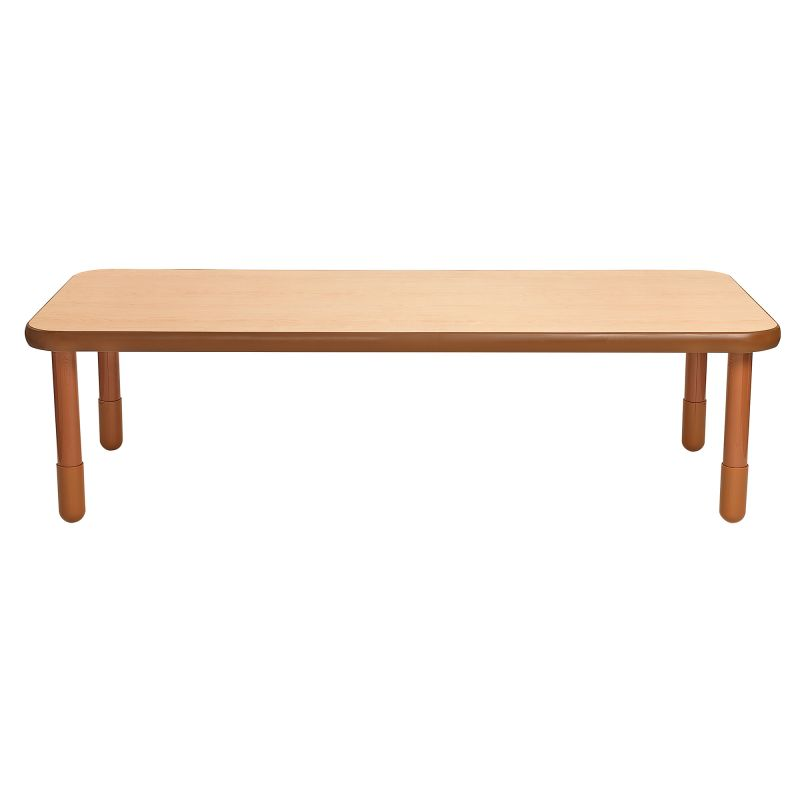 Baseline® 72″ X 30″ Rectangular Table – Natural Wood With 20″ Legs