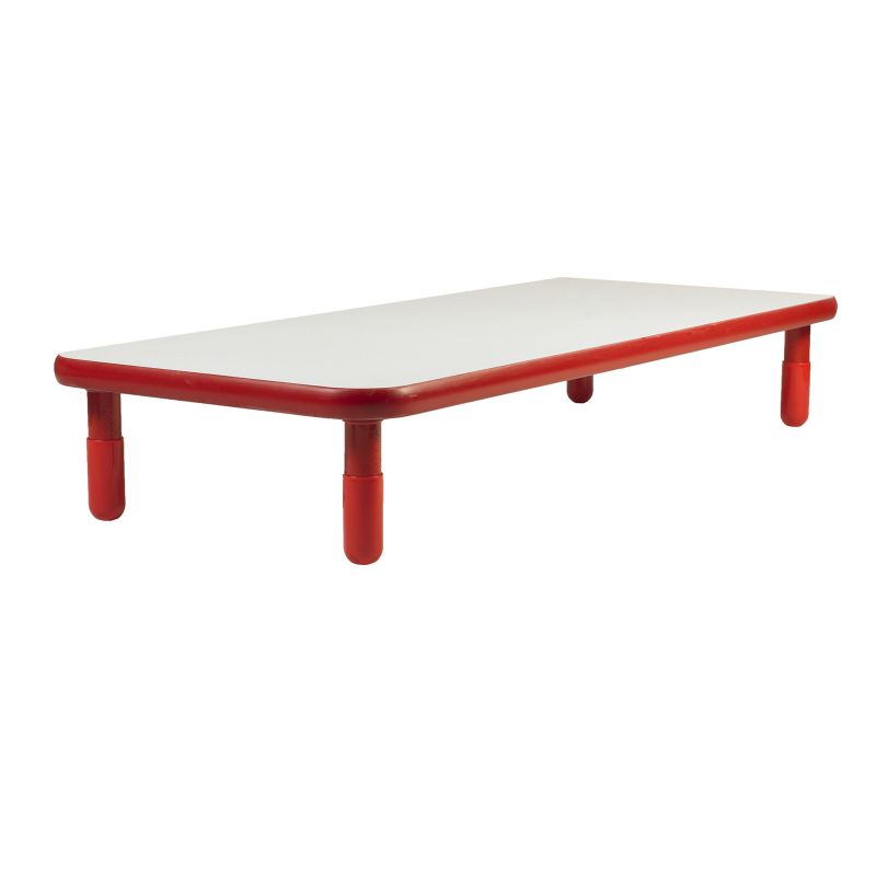 Baseline® 72″ X 30″ Rectangular Table – Candy Apple Red With 12″ Legs
