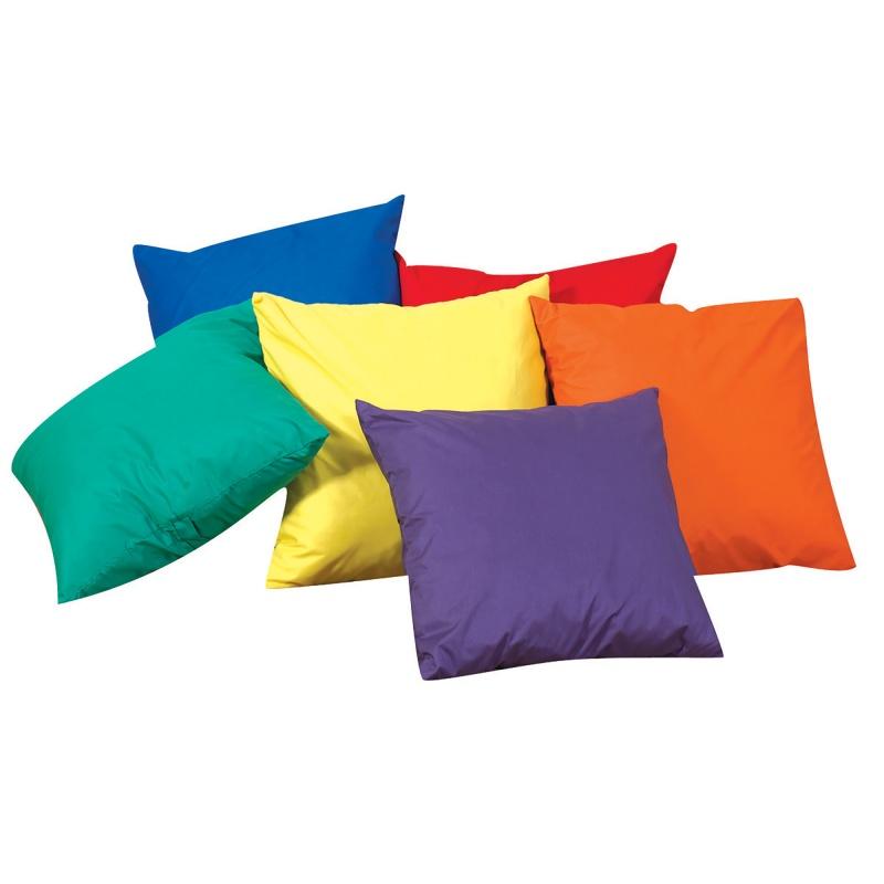 Cuddle-ups® 12″ Mini Rainbow Throw Pillows – Set Of 6