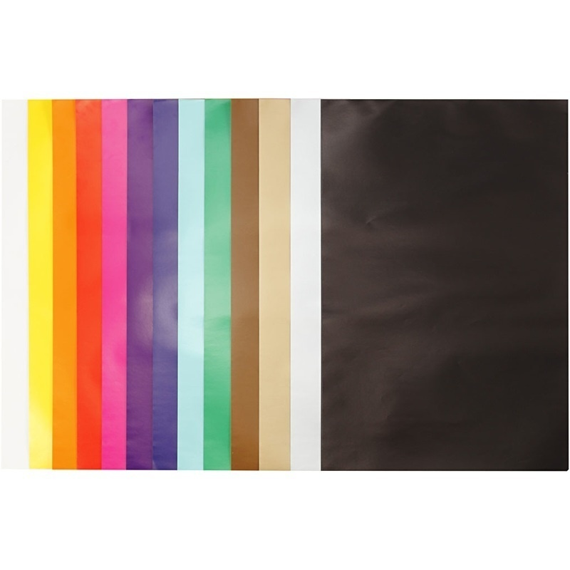 Creativ Company Glazed Paper, Assorted Colours, 24x32 Cm, 80 G, 50 Sheet, 1 Pack