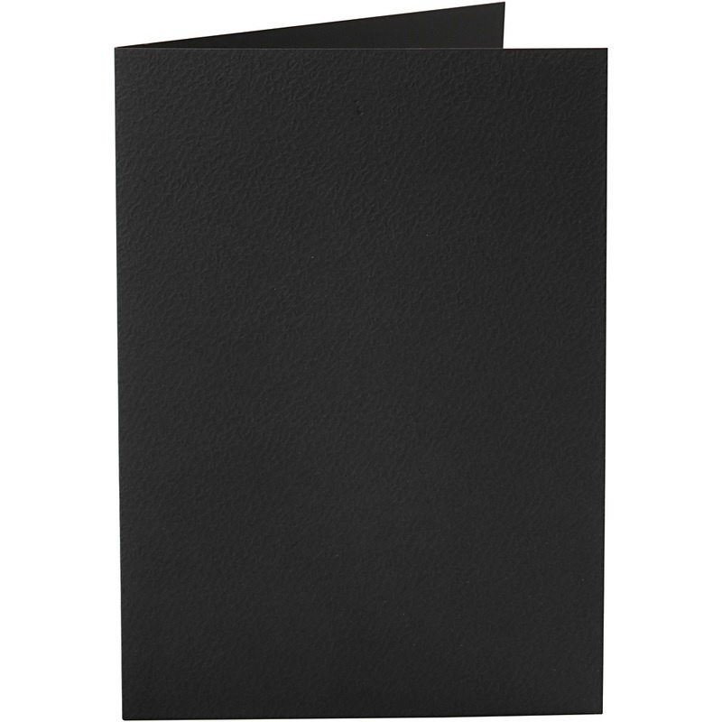 Happy Moments Cards, Black, 10,5x15 Cm, 220 G, 10 Pc, 1 Pack