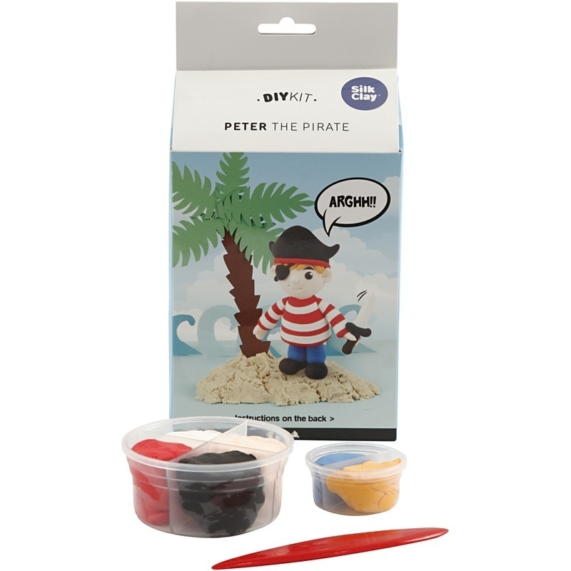 Silk Clay Funny Friends, Peter The Pirate, 1 Set