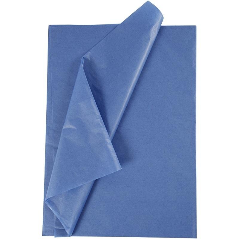 Creativ Company Tissue Paper, Blue, 50x70 Cm, 14 G, 10 Sheet, 1 Pack