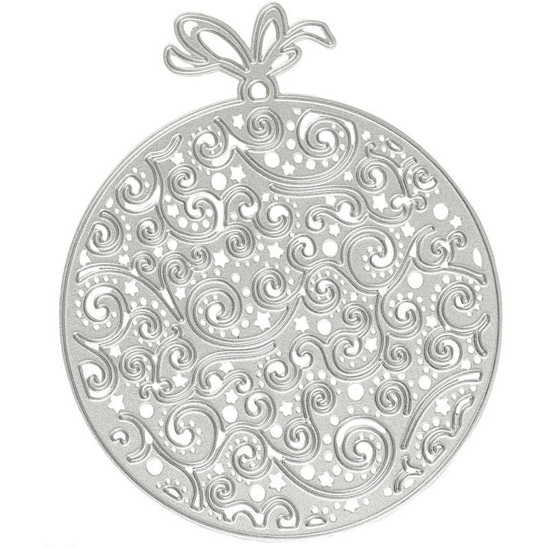 Creativ Company Die Cut And Embossing Folder, Christmas Ornaments, 9x11 Cm, 1 Pc