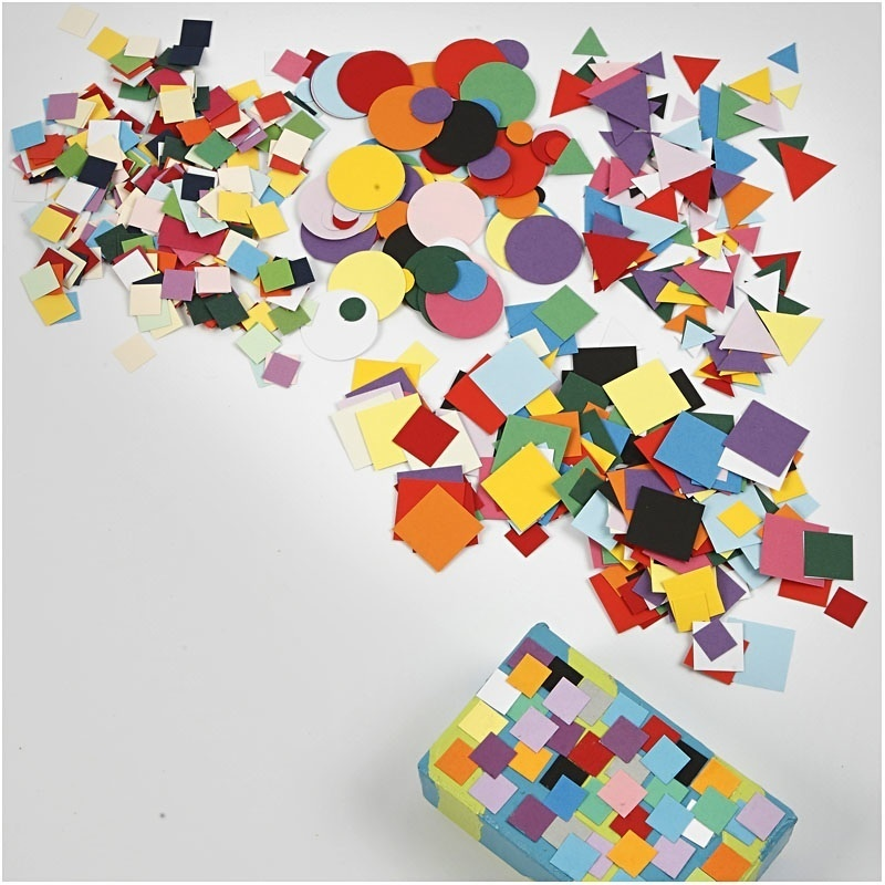 Creativ Company Card Mosaics, Assorted Colours, 180 Pack, 8 Pack