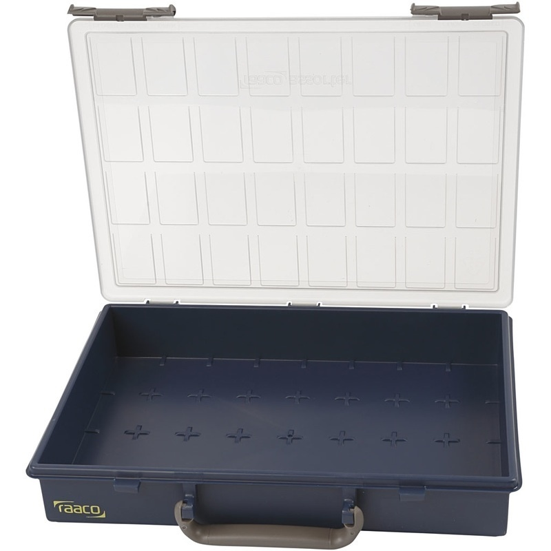 Raaco Storage Box, Without Removable Insert Boxes, 5,7 Cm, 33,8x26,1 Cm, 1 Pc