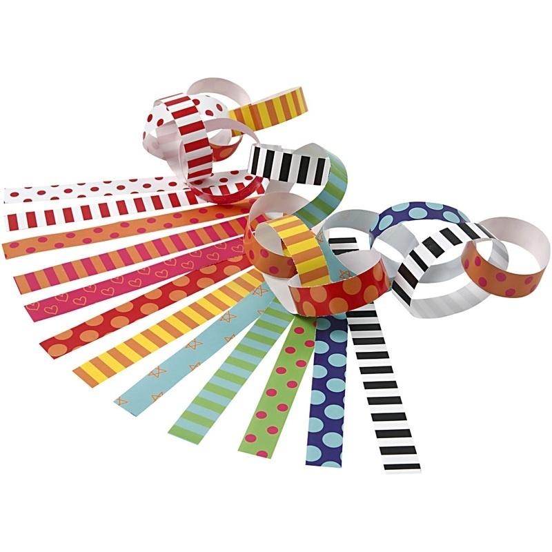 Creativ Company Paper Chains, Assorted Colours, L: 16 Cm, W: 15 Mm, 400 Pc