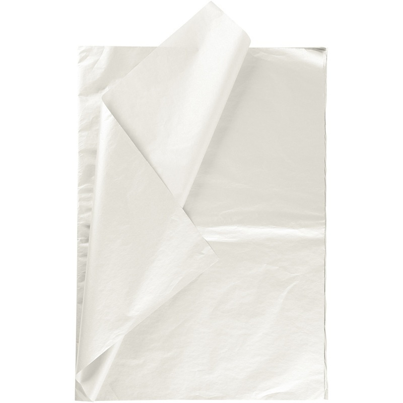 Creativ Company Tissue Paper, Mother-of-pearl, 50x70 Cm, 17 G, 25 Sheet, 1 Pack