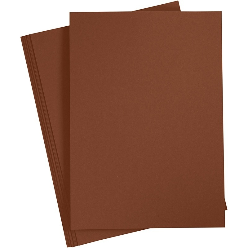 Paper Concept Card, Coffee Brown, A4, 210x297 Mm, 180 G, 20 Sheet, 1 Pack