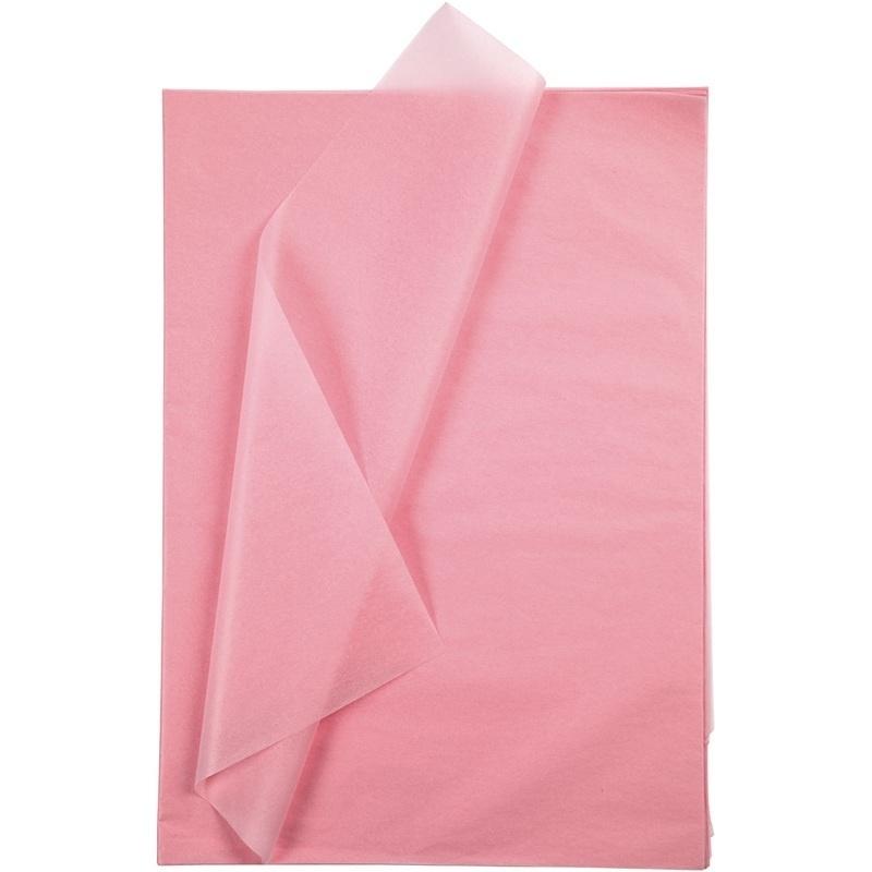 Creativ Company Tissue Paper, Pink, 50x70 Cm, 14 G, 25 Sheet, 1 Pack