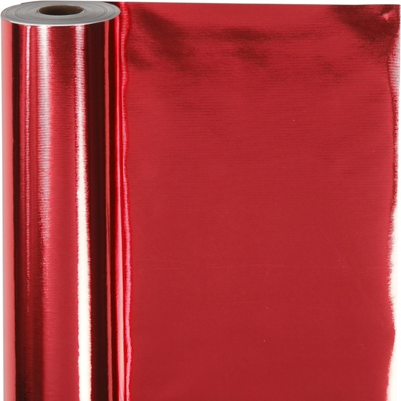 Creativ Company Wrapping Paper, Red, W: 50 Cm, 65 G, 100 M, 1 Roll