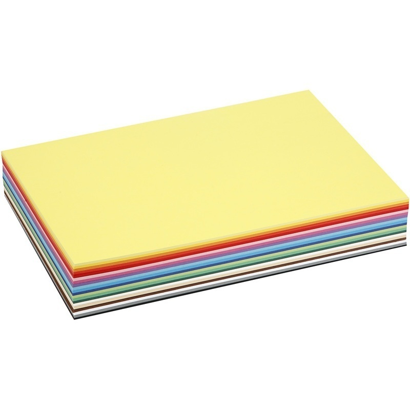 Colortime Creative Card, Assorted Colours, A4, 210x297 Mm, 180 G, 30 Ass Sheets