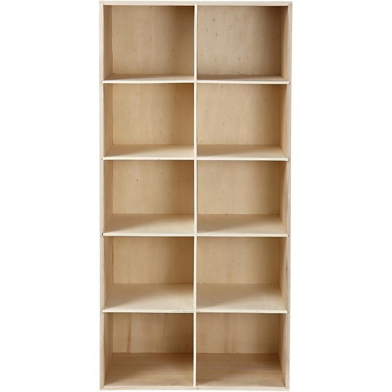 Creativ Company Bookcase, Depth 27 Cm, 40x82 Cm, Paulownia, 1 Pc
