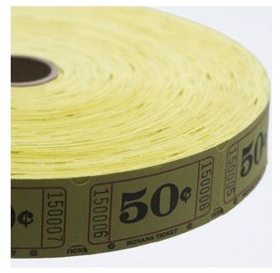 Raffle Tickets - 2,000 Single Stub 50 Cent Tickets