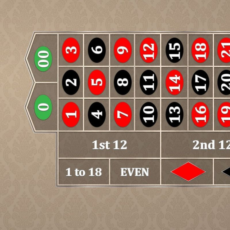 Classic Roulette Layout - Tan