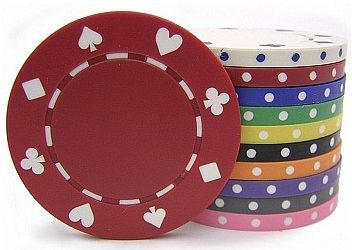 Casino Supply 8 Gram Suited Poker Chips: 25 per Package