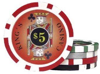 Casino Supply 11.5 Gram Kings Poker Chips: 25 per Package