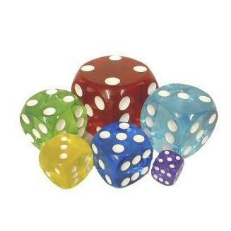 Acrylic Transparent Dice - 30 Mm / 1.25 Inch - Sold Individually
