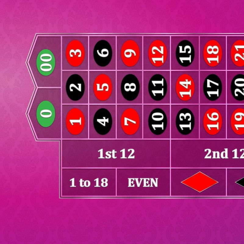 Classic Roulette Layout - Pink