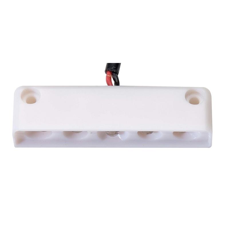 Innovative Lighting 5 Led Surface Mount Step Light - Red W/white Case