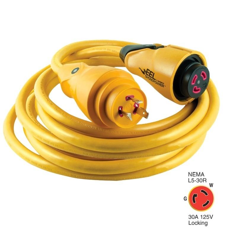 Marinco Cs30-25 Eel 30a 125v Shore Power Cordset - 25' - Yellow