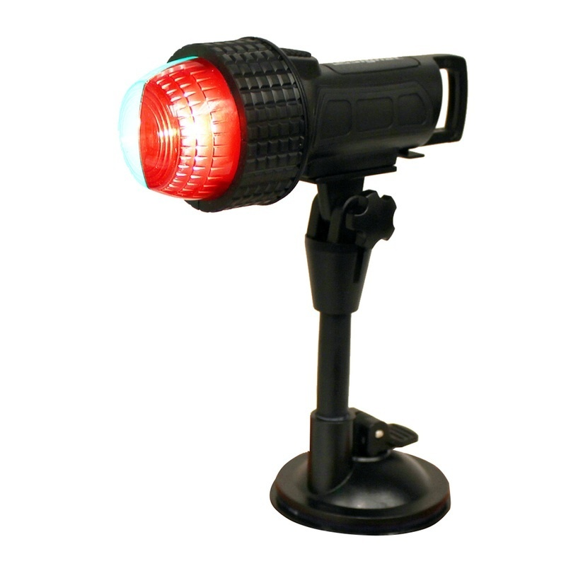 Aqua Signal Series 27 Compact Led Bi-color Light W/suction Cup, C-clamp & Inflatable Adapter