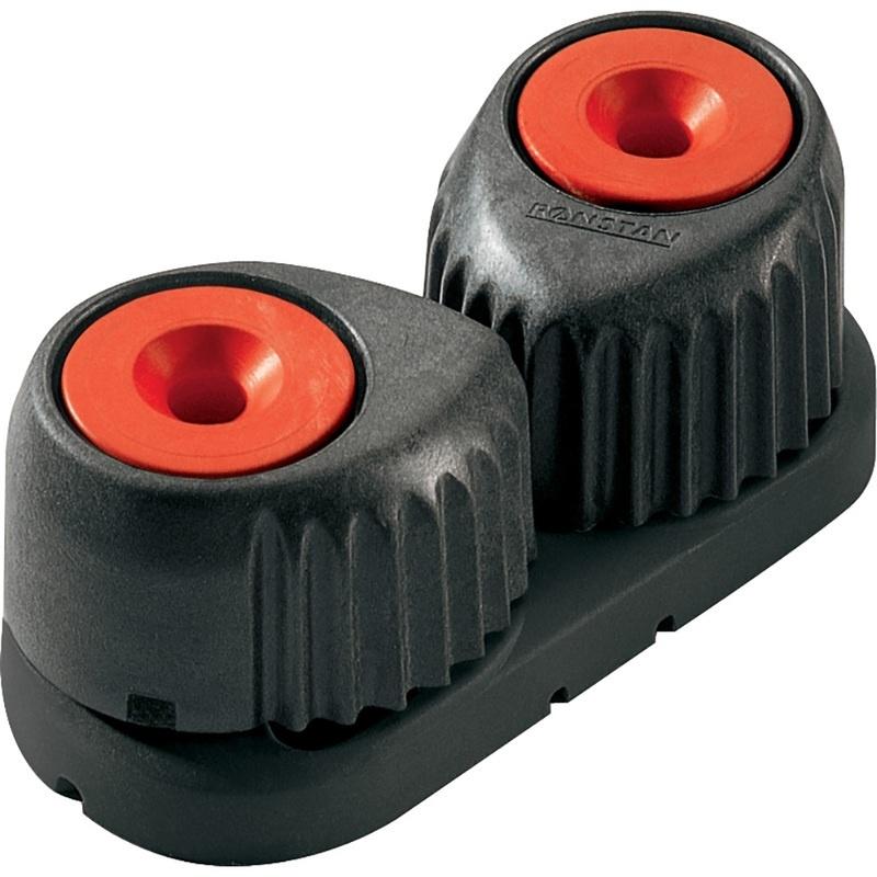 Ronstan Medium Alloy Cam Cleat - Red, Black Base
