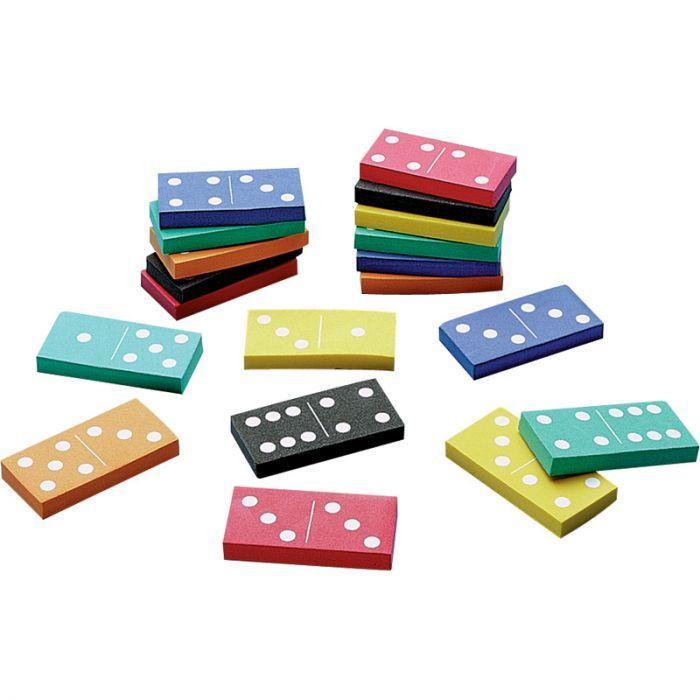 Double-Six Foam Dominoes, Multicolored, Set Of 168