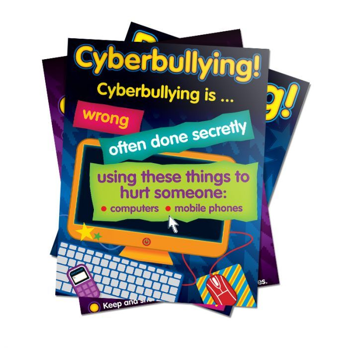 Bullying In A Cyber World Poster Set, Lower, Gr 2-5