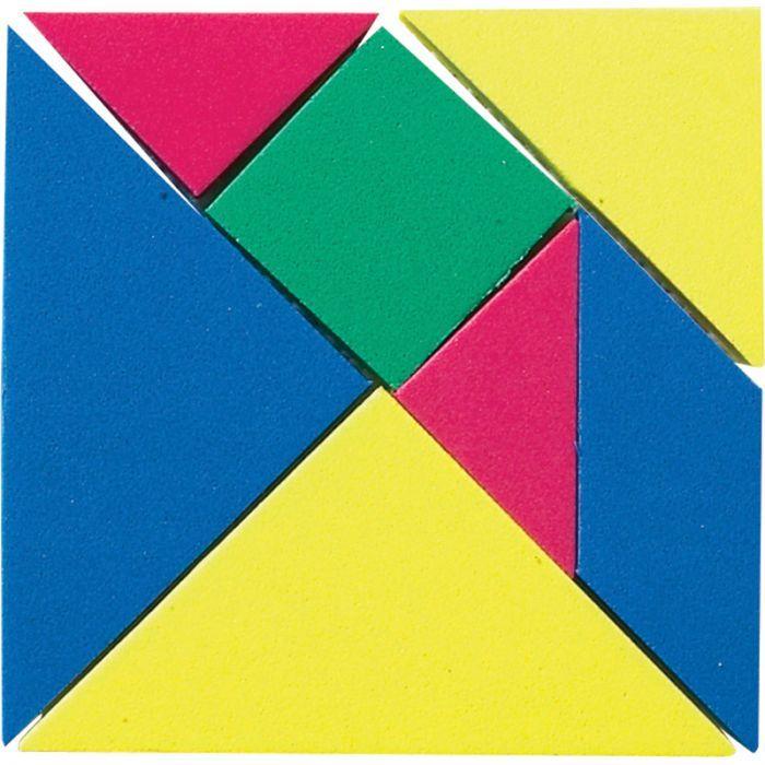 Tangrams, Plastic, 4 Sets