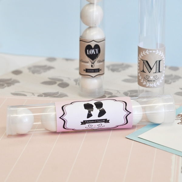 Vintage Wedding Personalized Candy Tubes
