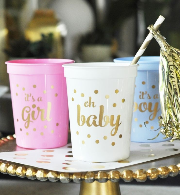 Gold Baby Shower Party Cups (set Of 25)