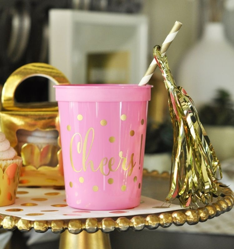 Gold Cheers Party Cups (set Of 25)