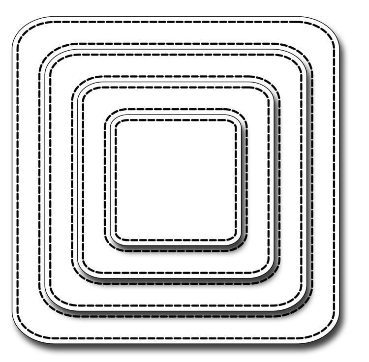 Frantic Stamper Precision Die - Stitched Rounded Squares