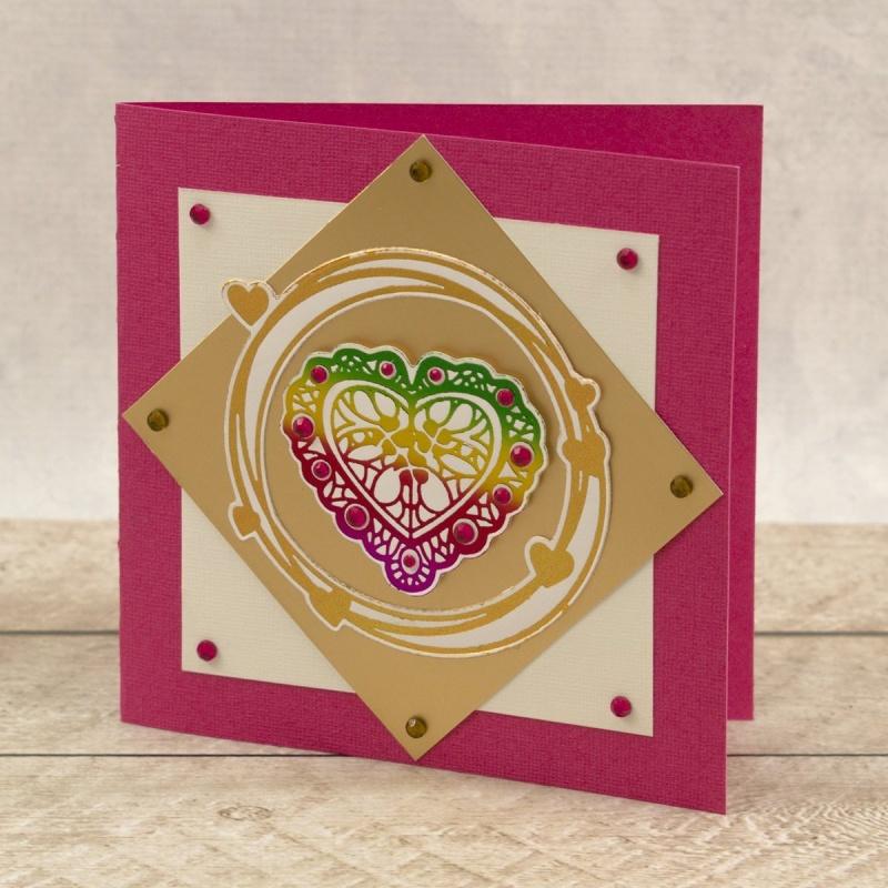 Cut, Foil And Emboss - Framework - Nesting Lace Heart Set