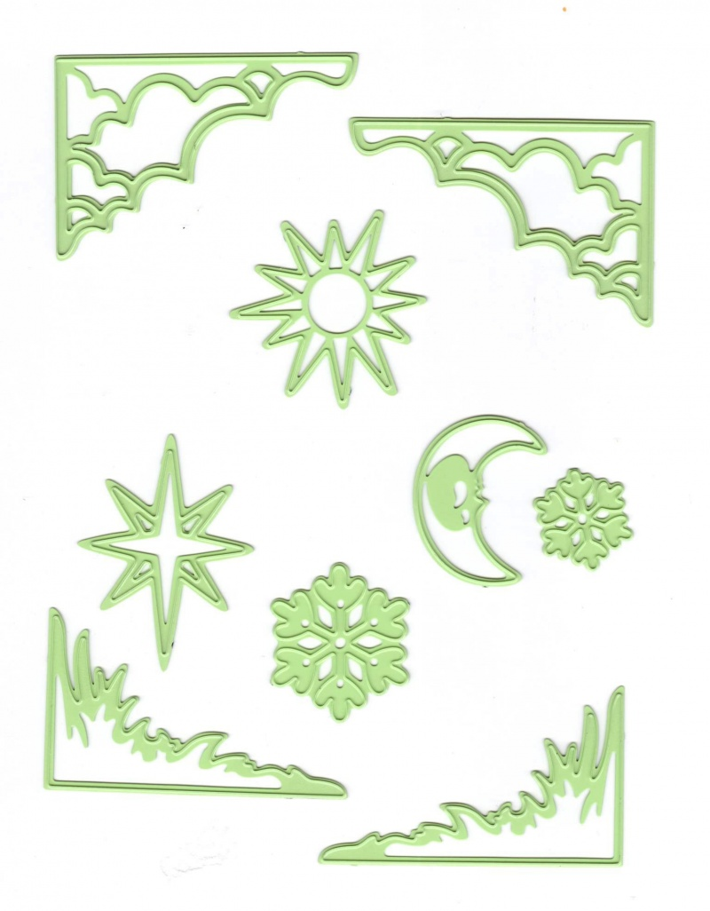 Cutting And Embossing Die - Sun & Moon