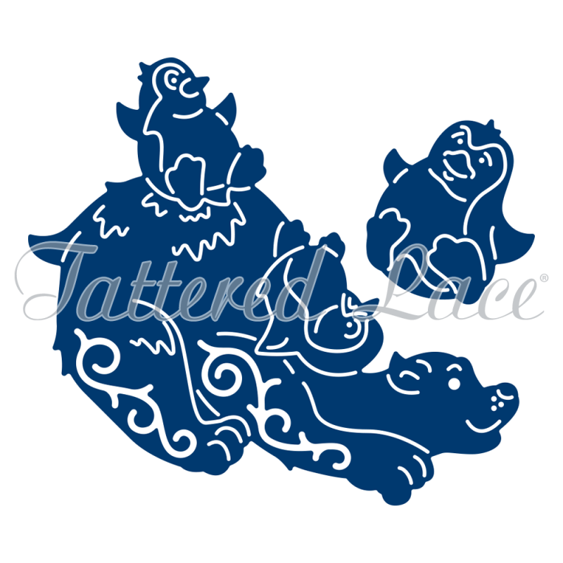 Tattered Lace Die - Playful Penguin