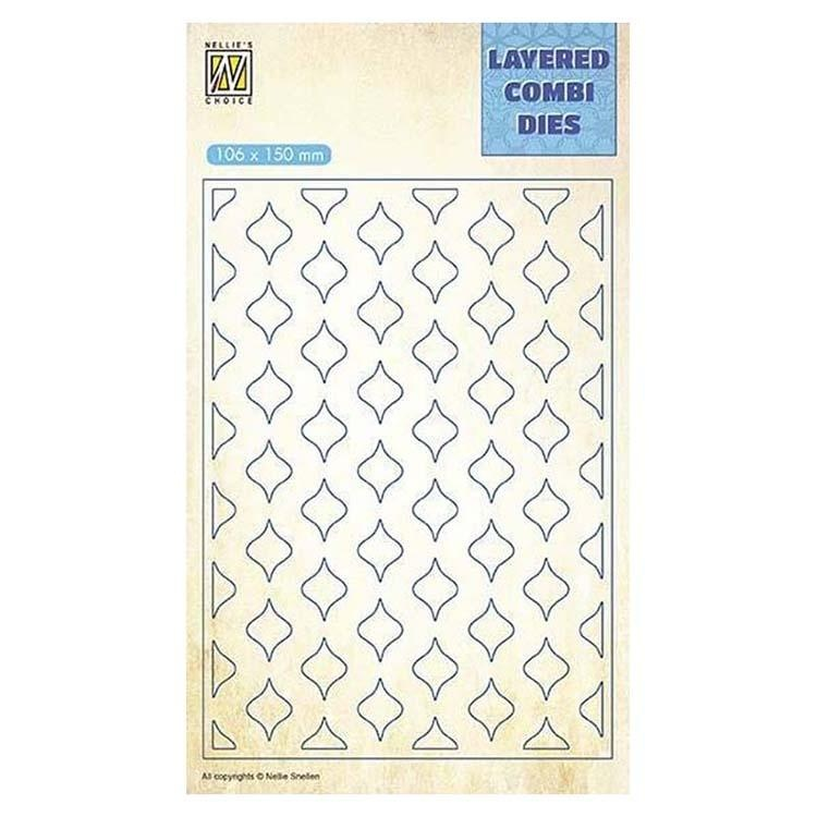 Nellie's Choice Layered Combi Dies Eastern Oval Layer B