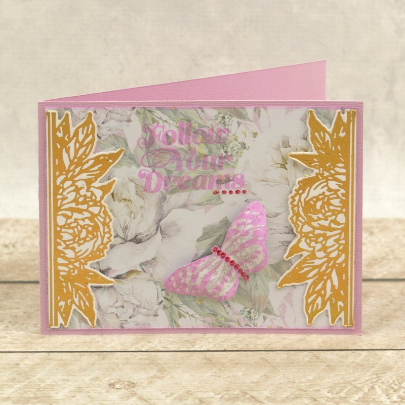 Couture Creations Peaceful Peonies Cut Foil And Emboss Die Bordered Peony