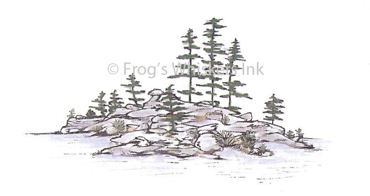 Frog's Whiskers Stamps - Picnic Island