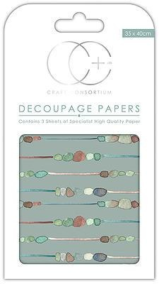 Pebble Chain Decoupage Papers